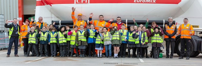 Children and staff taking part in CPI Schools Initiative